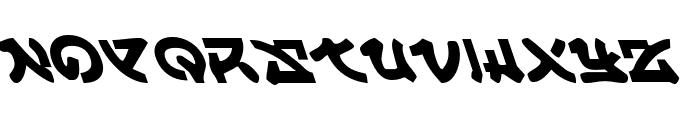 Yama Moto Leftalic Font UPPERCASE
