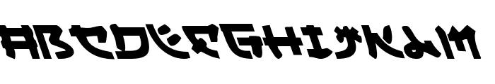 Yama Moto Leftalic Font LOWERCASE