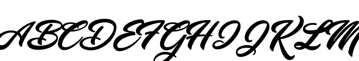 Yananeska Personal Use Font UPPERCASE