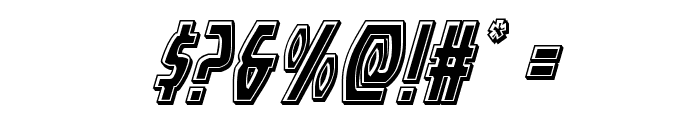 Yankee Clipper Bevel Italic Font OTHER CHARS