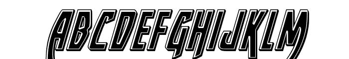 Yankee Clipper Bevel Italic Font LOWERCASE