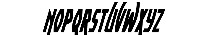 Yankee Clipper Condensed Italic Font LOWERCASE