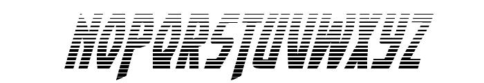 Yankee Clipper Gradient Italic Font UPPERCASE