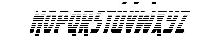 Yankee Clipper Gradient Italic Font LOWERCASE