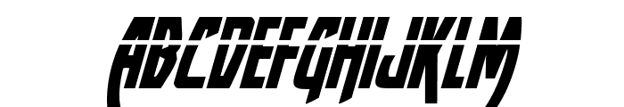 Yankee Clipper Laser Italic Font LOWERCASE