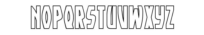 Yankee Clipper Outline Regular Font UPPERCASE