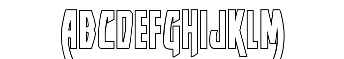Yankee Clipper Outline Regular Font LOWERCASE
