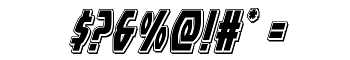 Yankee Clipper Punch Italic Font OTHER CHARS