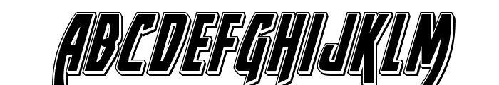 Yankee Clipper Punch Italic Font LOWERCASE