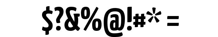 Yanone Kaffeesatz Bold Font OTHER CHARS