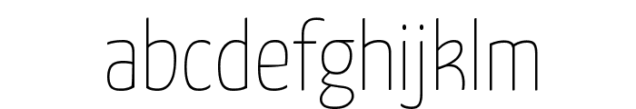 Yanone Kaffeesatz Extra Light Font LOWERCASE
