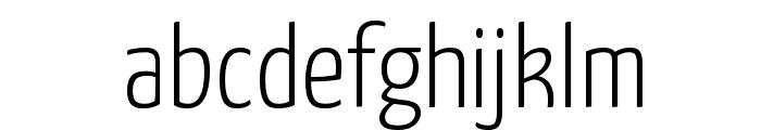 Yanone Kaffeesatz Light Font LOWERCASE
