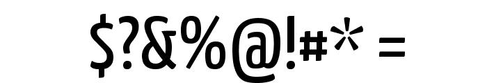 Yanone Kaffeesatz Regular Font OTHER CHARS