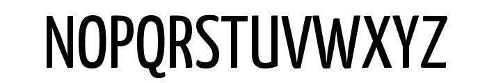 Yanone Kaffeesatz Regular Font UPPERCASE