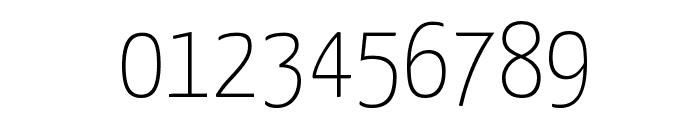 Yanone Kaffeesatz Thin Font OTHER CHARS