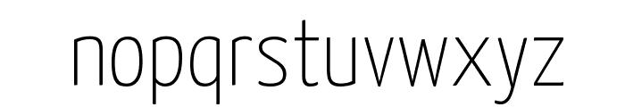 Yanone Kaffeesatz Thin Font LOWERCASE