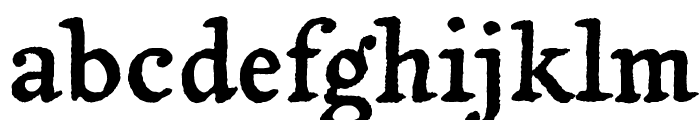 Yanone Tagesschrift Font LOWERCASE
