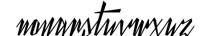 Yanty Script Demo Font LOWERCASE