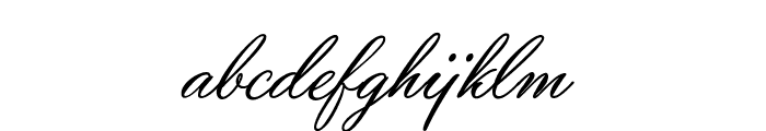 Yaquote Script Personal Use Font LOWERCASE
