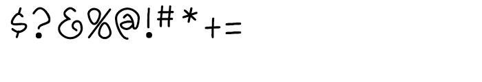 Yahosch Regular Font OTHER CHARS