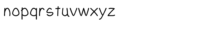 Yahosch Regular Font LOWERCASE