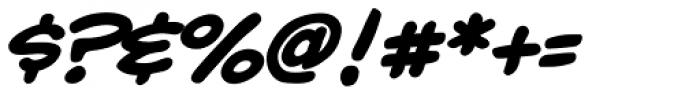 Yada Yada Yada Bold Italic Font OTHER CHARS