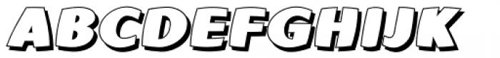 Yafferbuddle 6 Chunky Shadow Italic Font UPPERCASE
