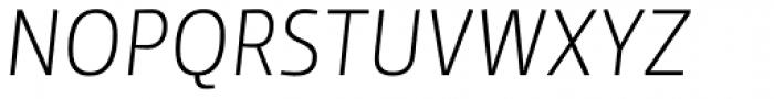 Yalta Sans Pro Light Italic Font UPPERCASE