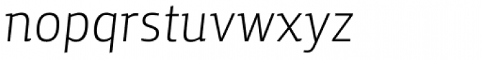 Yalta Sans Pro Light Italic Font LOWERCASE