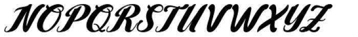 Yamada Italic Font UPPERCASE