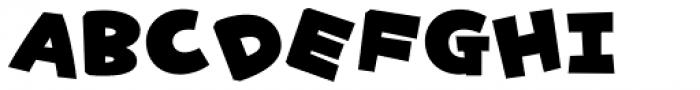 Yancha Pop_JItabata Font UPPERCASE