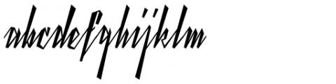 Yanty Script Font LOWERCASE