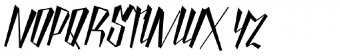 Yanty Font UPPERCASE