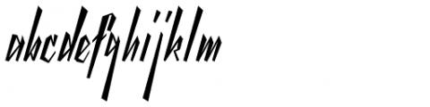 Yanty Font LOWERCASE