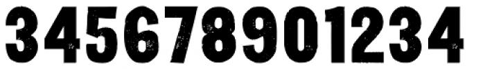 Yardbird Numerals Font UPPERCASE