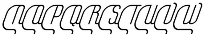 Yasemin Regular Italic Font UPPERCASE