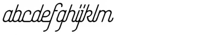 Yasemin Regular Italic Font LOWERCASE