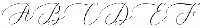 Yasmine Gardner Regular Font UPPERCASE