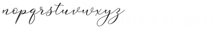 Yasmine Gardner Regular Font LOWERCASE