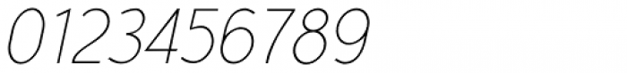 Yassitf Narrow Ultra Thin Italic Font OTHER CHARS