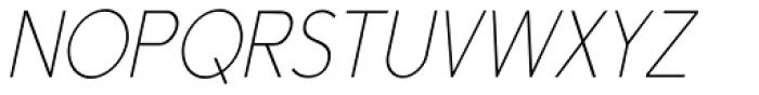 Yassitf Narrow Ultra Thin Italic Font UPPERCASE