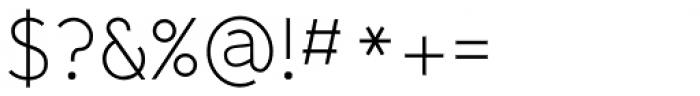Yassitf Thin Font OTHER CHARS