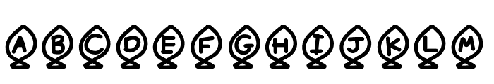 YBAlphaFish Font UPPERCASE