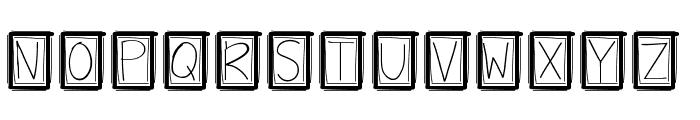 YBBoxyPunchie Font UPPERCASE