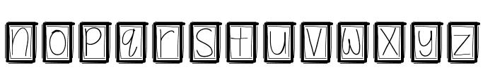 YBBoxyPunchie Font LOWERCASE