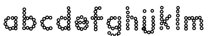 YBDabaDotFont Font LOWERCASE