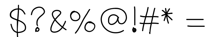 YBFreezinSeason Font OTHER CHARS