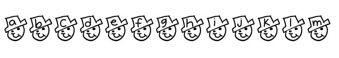 YBFreezinSeason Font LOWERCASE