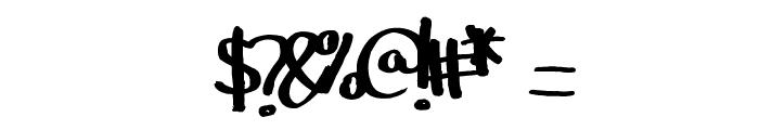 YBIceCreamSundae Font OTHER CHARS