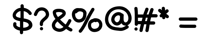 YBNutellaPizza Font OTHER CHARS